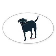 Tri-Lab Silhouette (Front) Sticker (Oval)