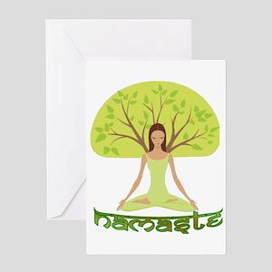 Namaste Tree Greeting Card