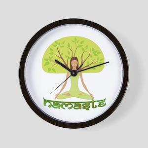 Namaste Tree Wall Clock