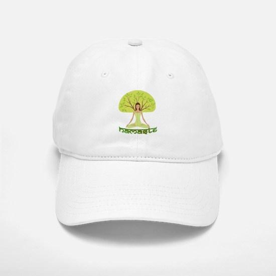 Namaste Tree Baseball Baseball Cap