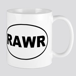 Rawr White Oval Mug