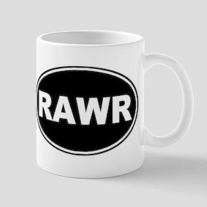 Rawr Black Oval Mug