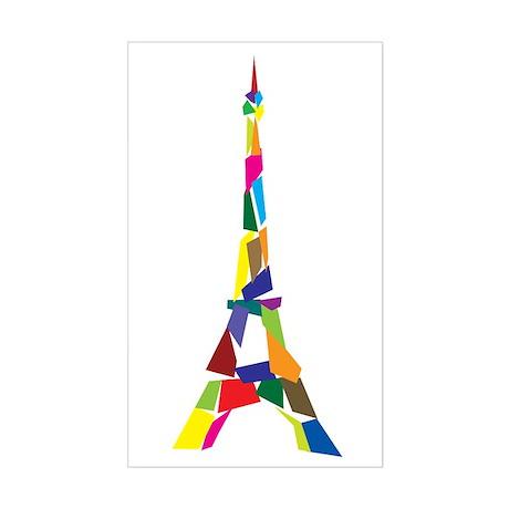 Eiffel Tower Sticker (Rectangle)