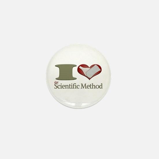 I Heart the Scientific Method Mini Button
