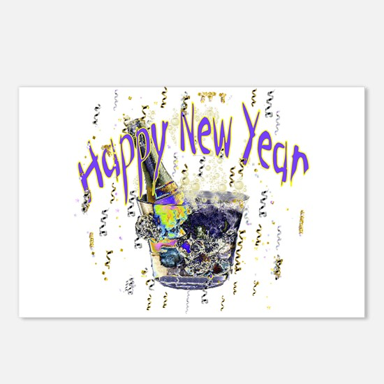 New years Postcards (Package of 8)