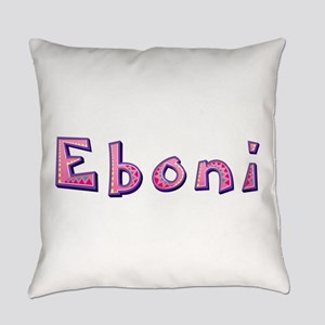 Eboni Pink Giraffe Everyday Pillow