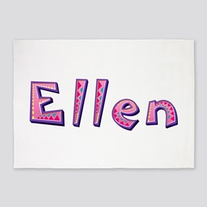 Ellen Pink Giraffe 5'x7' Area Rug