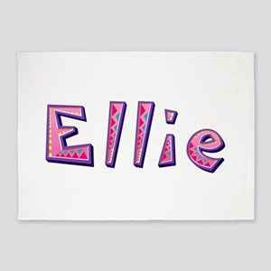 Ellie Pink Giraffe 5'x7' Area Rug