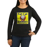 Yellow Logo Women's Long Sleeve Dark T-Shirt