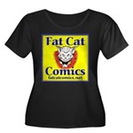 Yellow Logo Women's Plus Size Scoop Neck Dark T-Sh