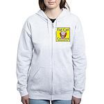 Yellow Logo Women's Zip Hoodie