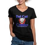 Unframed Logo Women's V-Neck Dark T-Shirt