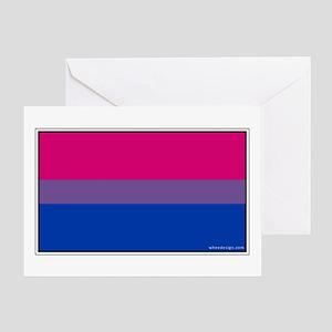 Bi-Sexual Pride Flag Greeting Card