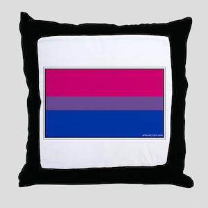 Bi-Sexual Pride Flag Throw Pillow