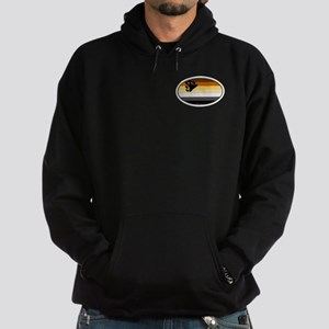 Oval Bear Pride Flag Hoodie (dark)