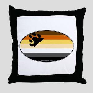 Oval Bear Pride Flag Throw Pillow