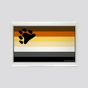 Bear Pride Flag Rectangle Magnet