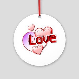 Pixel Love Ornament (Round)