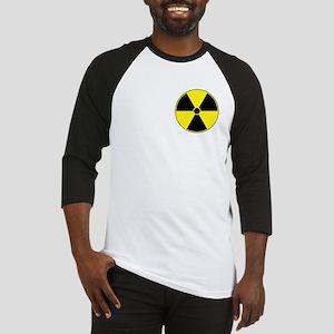 Yellow Radiation Symbol Baseball Jersey