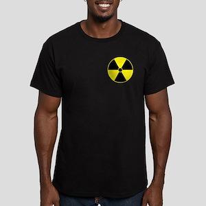 Yellow Radiation Symbol Men's Fitted T-Shirt (dark
