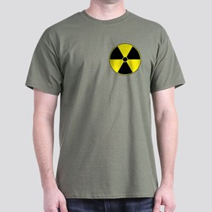 Yellow Radiation Symbol Dark T-Shirt
