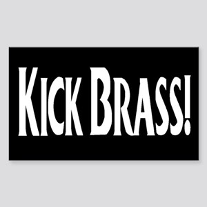 """Kick Brass!"" Rectangle Sticker"