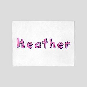 Heather Pink Giraffe 5'x7' Area Rug