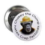 "Chokey the Chimp 2.25"" Button (10 pack)"
