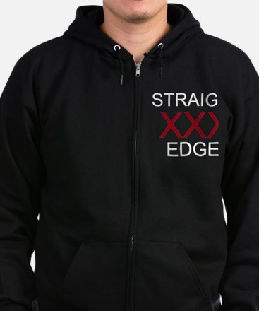 Unique Straight edge Zip Hoodie (dark)