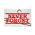 Never Forget (Abortion Hanger) Rectangle Magnet (1