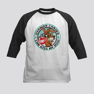 Ovarian Cancer Can Kiss My As Kids Baseball Jersey