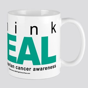 Ovarian Cancer THINK TEAL Mug