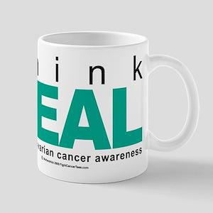 Ovarian Cancer THINK TEAL Mug