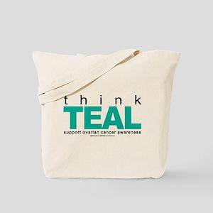 Ovarian Cancer THINK TEAL Tote Bag