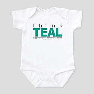 Ovarian Cancer THINK TEAL Infant Bodysuit