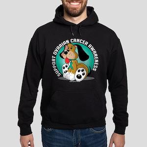 Ovarian Cancer Dog Hoodie (dark)