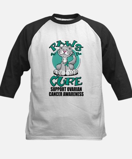 Ovarian Cancer Paws for the C Kids Baseball Jersey