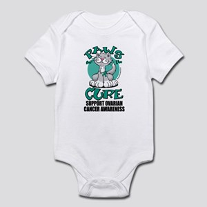 Ovarian Cancer Paws for the C Infant Bodysuit