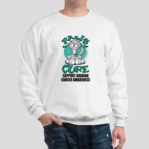 Ovarian Cancer Paws for the C Sweatshirt
