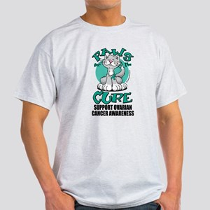 Ovarian Cancer Paws for the C Light T-Shirt