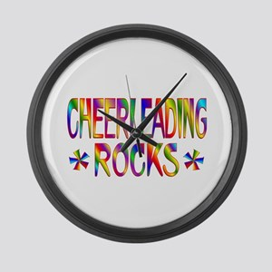 Cheerleading Large Wall Clock