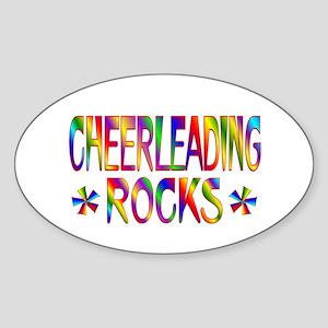 Cheerleading Sticker (Oval)