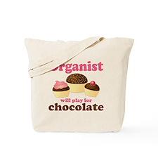 Funny Chocolate Organist Tote Bag