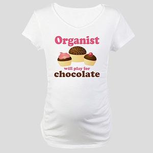 Funny Chocolate Organist Maternity T-Shirt