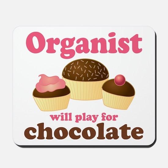 Funny Chocolate Organist Mousepad
