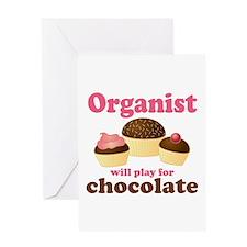 Funny Chocolate Organist Greeting Card