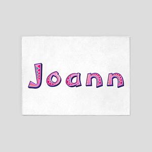 Joann Pink Giraffe 5'x7' Area Rug