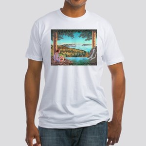 Homage to Maxwell Parrish Fitted T-Shirt