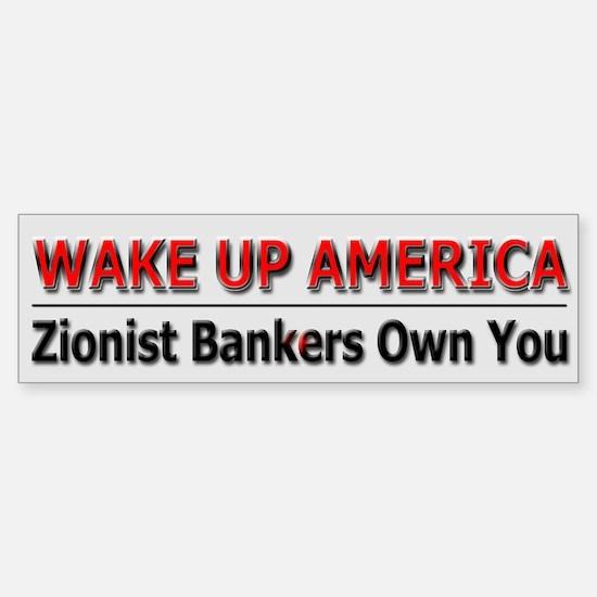 Wake Up America - Sticker (Bumper)