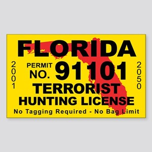 Florida Terrorist Hunting License Sticker